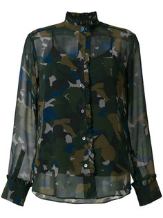 полупрозрачная рубашка с камуфляжным принтом  Ps By Paul Smith