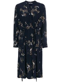 платье с запахом с цветочным принтом Vince