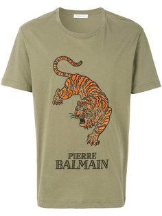 футболка с принтом тигра Pierre Balmain