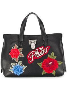 сумка-тоут с цветочной аппликацией Philipp Plein