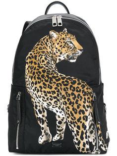 рюкзак с аппликацией в виде леопарда Dolce & Gabbana