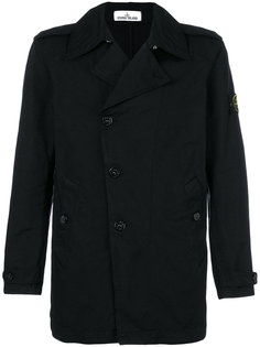 double-breasted fitted coat Stone Island