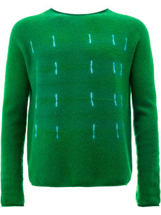 свитер с декоративной строчкой  Suzusan