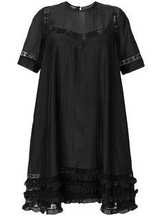 платье шифт с оборками  Rochas