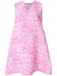 стеганое платье с вышивкой  MSGM