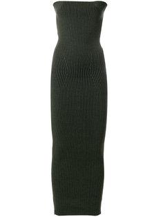 приталенное платье в рубчик  Mm6 Maison Margiela
