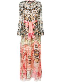 платье макси с поясом и принтом  Temperley London