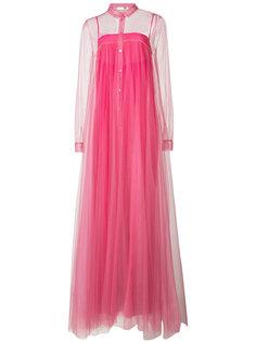длинное плиссированное прозрачное платье  Vionnet