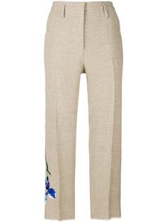 брюки с цветочной вышивкой Golden Goose Deluxe Brand