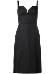 """платье миди с вырезом """"сердце"""" Prada"""