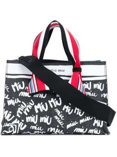 джинсовая сумка-тоут Miu Miu