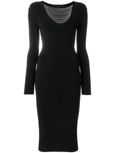 приталенное платье с цепочками  Alexander Wang