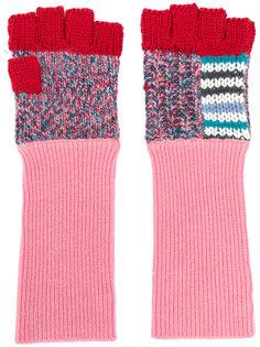 перчатки-митенки Burberry