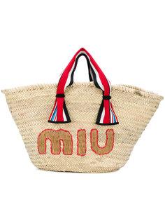 пляжная сумка-тоут Miu Miu