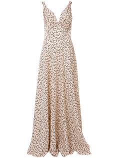 платье макси с перекрестной отделкой  Prada