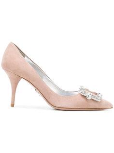 туфли с пряжкой Prada