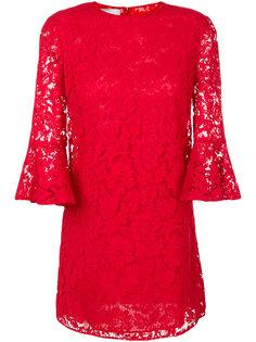 кружевное платье с расклешенными рукавами  Valentino