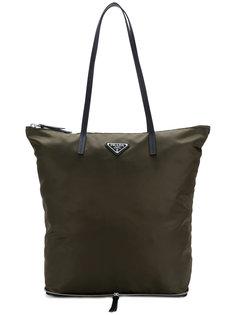 сумка-шоппер с логотипом Prada
