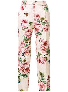 брюки с цветочным принтом  Dolce & Gabbana