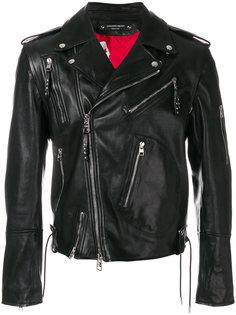 кожаная байкерская куртка Alexander McQueen