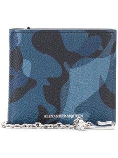 бумажник с камуфляжным принтом  Alexander McQueen
