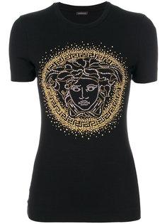 футболка с отделкой Medusa Versace