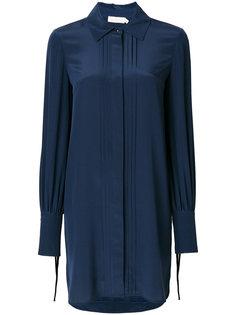 платье-рубашка с плиссировкой Tory Burch