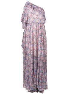платье на одно плечо с цветочным принтом  Philosophy Di Lorenzo Serafini