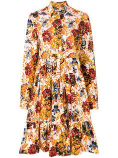 платье-рубашка с цветочным принтом  MSGM