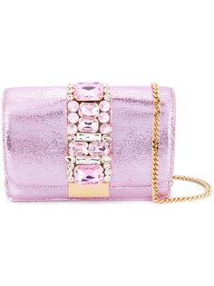 сумка на плечо Cliky с украшением из кристаллов Gedebe
