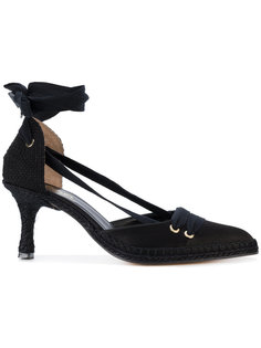 туфли с завязками  Manolo X Castaner