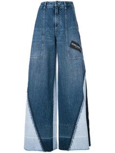 широкие джинсы со вставками  Dolce & Gabbana