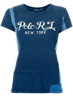 лоскутная футболка Polo Ralph Lauren