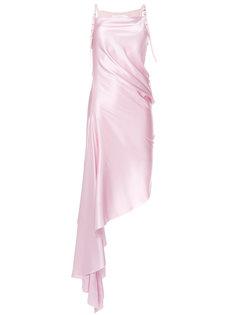 асимметричное платье с ремешками с пряжками Marquesalmeida Marquesalmeida