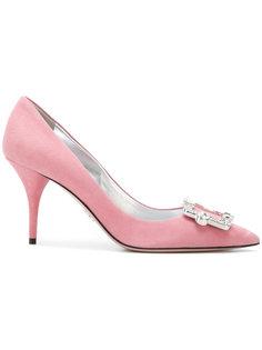 туфли с декорированной пряжкой Prada