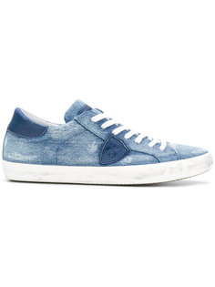 джинсовые кеды на шнуровке Philippe Model