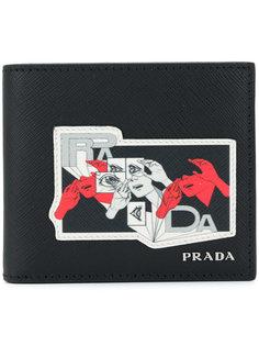 бумажник с графическим принтом Prada