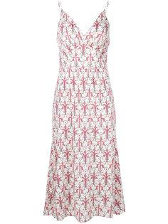платье на бретелях кроя миди Prada