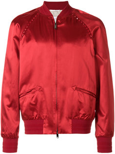 куртка-бомбер с заклепками  Valentino