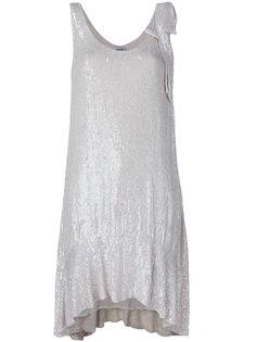 платье без рукавов с пайетками  P.A.R.O.S.H.
