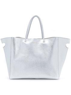 сумка-тоут с отделкой металлик Sacai