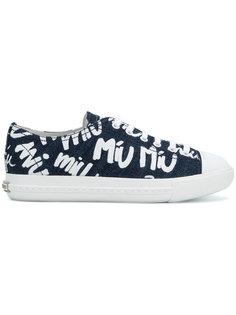 джинсовые кеды с графическим принтом Miu Miu
