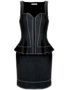 приталенное платье с баской  Givenchy