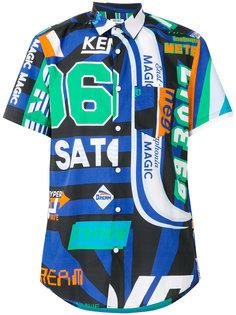 рубашка с комбинированным принтом Kenzo
