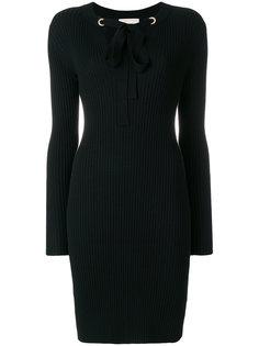 приталенное платье в рубчик  Michael Michael Kors
