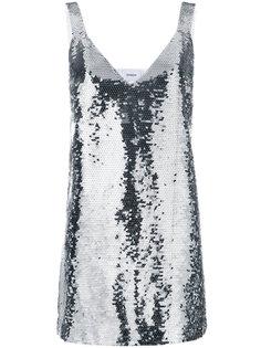 мини-платье с пайетками  Dondup