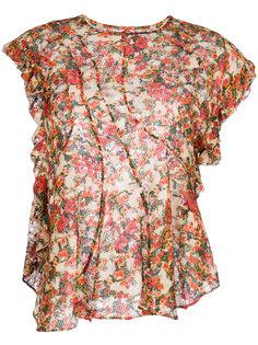 блузка с рюшами и цветочным принтом Isabel Marant