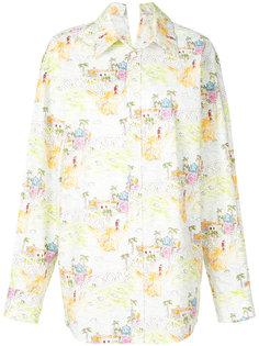 оверсайз-рубашка с цветочным принтом  Marni