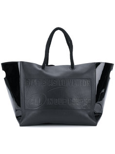 embossed vector shopper tote Sacai