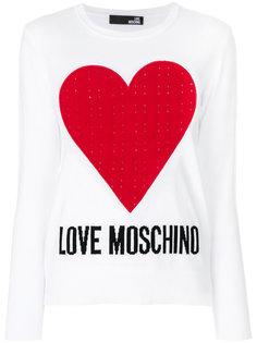 logo intarsia jumper Love Moschino